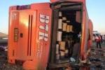 دلیل واژگونی اتوبوس دانشآموزان هرمزگانی مشخص شد